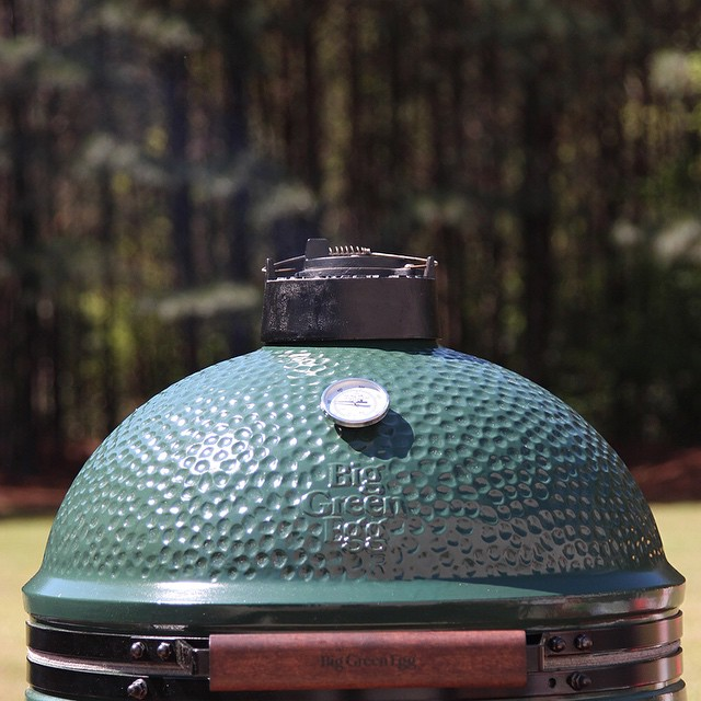 big green egg close up